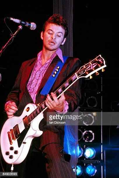 Photo of James Dean BRADFIELD and MANIC STREET PREACHERS, James Dean Bradfield performing live onstage, playing Gibson Les Paul guitar