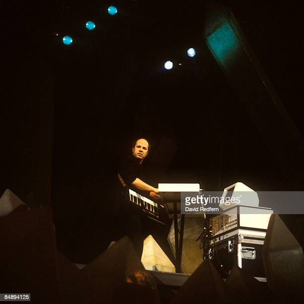Photo of Jan HAMMER, performing live onstage, playing Fairlight synthesiser