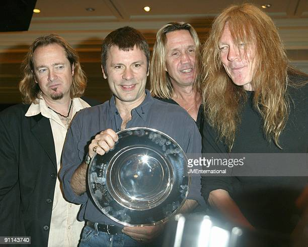 AWARDS Photo of Janick GERS and IRON MAIDEN and Adrian SMITH and Bruce DICKINSON and Nicko McBRAIN LR Adrian Smith Bruce Dickinson Nicko McBrain...