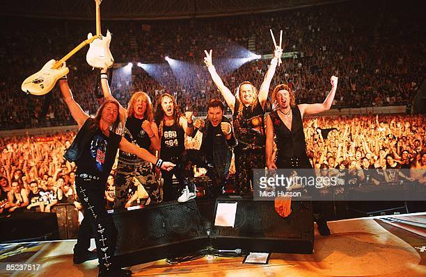 VISTALEGRE Photo of Janick GERS and IRON MAIDEN and Steve HARRIS and Dave MURRAY and Bruce DICKINSON and Adrian SMITH and Nicko McBRAIN LR Dave...