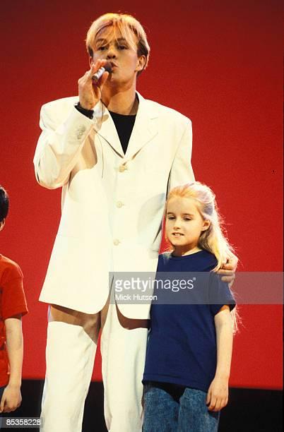 Photo of Jason DONOVAN; Jason Donovan and the kids from The Amazing Technicolour Dreamcoat performing the 'Joseph Mega-Mix'