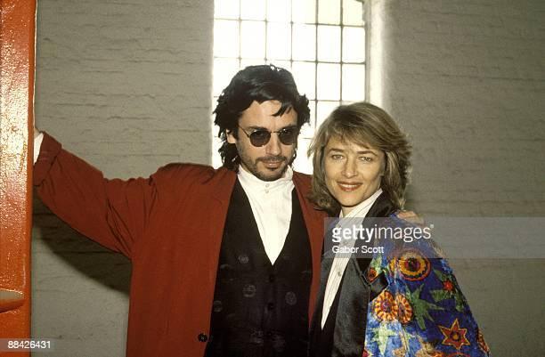 Photo of Jean Michel JARRE with Charlotte Rampling