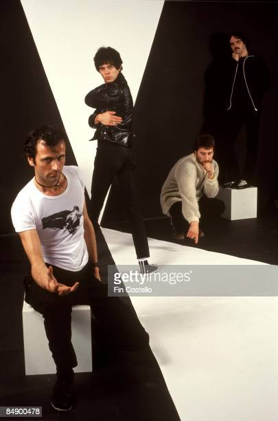Photo of JeanJacques BURNEL and Hugh CORNWELL and STRANGLERS and Jet BLACK and Dave GREENFIELD LR Hugh Cornwell JeanJacques Burnel Jet Black Dave...