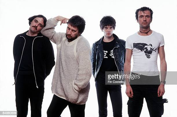 Photo of Jean-Jacques BURNEL and Jet BLACK and STRANGLERS and Hugh CORNWELL and Dave GREENFIELD; Dave Greenfield, Jet Black, Jean-Jacques Burnel,...