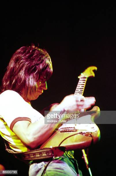 Photo of Jeff BECK performing live onstage playing Fender Stratocaster guitar