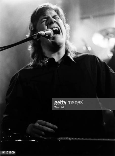 Photo of Jeff HEALEY; Blind guitarist Jeff Healey performing on stage
