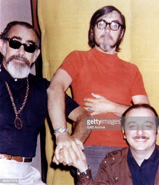 Photo of Jerry WEXLER and Tom DOWD and Arif MARDIN; L-R Record producers Jerry Wexler, Tom Dowd and Arif Mardin