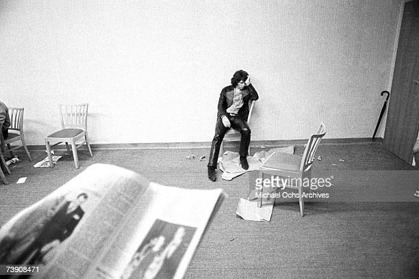 Photo of Jim Morrison Doors Frankfurt West Germany 9141968