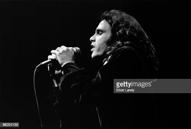 Photo of Jim MORRISON of The DOORS performing live at Hunter College Playhouse on November 24, 1967 in New York City.
