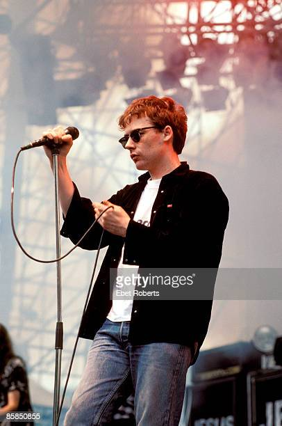 USA Photo of Jim REID and JESUS MARY CHAIN Jim Reid performing on stage at Montage Mountain Pennsylvania