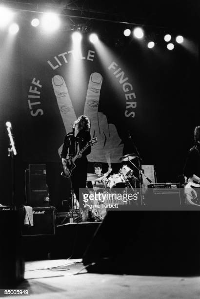 Photo of Jim REILLY and Jake BURNS and STIFF LITTLE FINGERS LR Jake Burns Jim Reilly