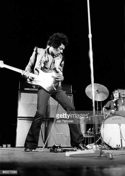 Photo of Jimi hendrix 10 Jimi Hendrix and Mitch Mitchell Falkoner Centret Copenhagen January 10 1969