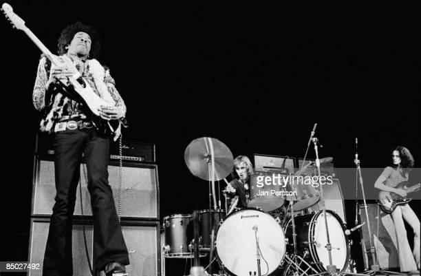 Photo of Jimi Hendrix 12 Jimi HendrixMitch Mitchell and Noel Redding Falkoner Centret Copenhagen January 10 1969