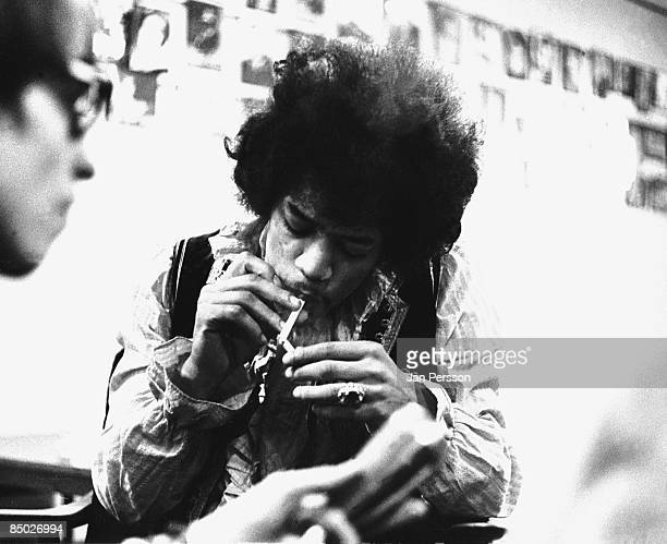 Photo of Jimi Hendrix 3 Jimi Hendrix backstage Falkoner Centret Copenhagen May 21 1967