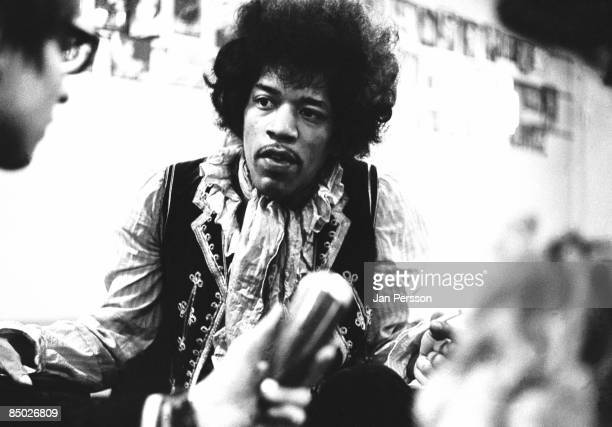 Photo of Jimi Hendrix 4 Jimi Hendrix backstage Falkoner Centret Copenhagen May 21 1967