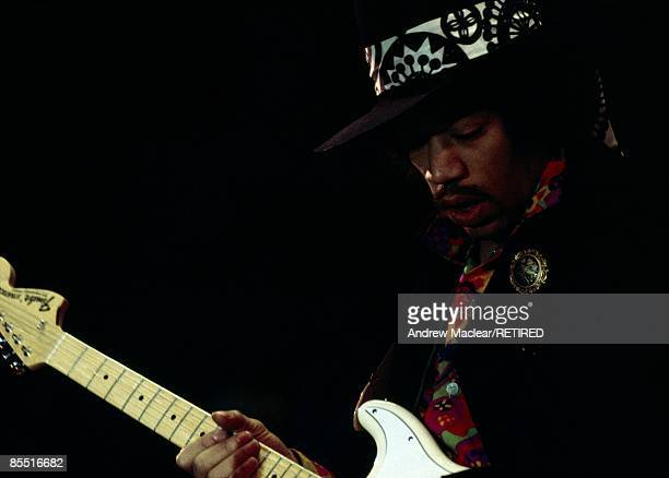 HALL Photo of Jimi HENDRIX Jimi Hendrix performing on stage