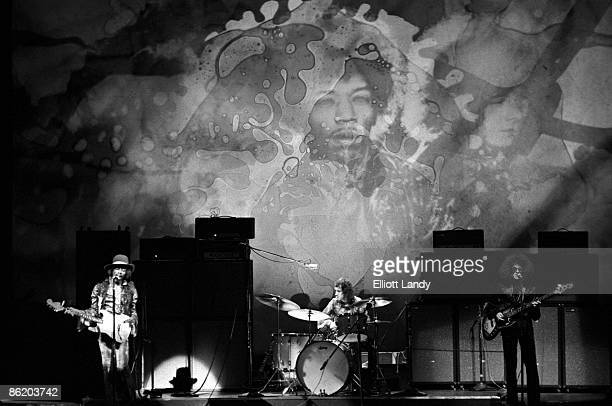 Jimi Hendrix Mitch Mitchell Noel Redding performing live onstage