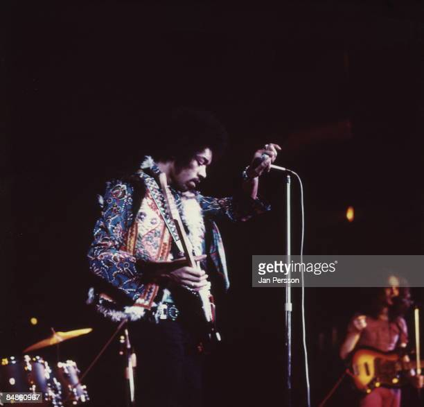 Photo of Jimi HENDRIX performing live onstage at Falkoner Centret