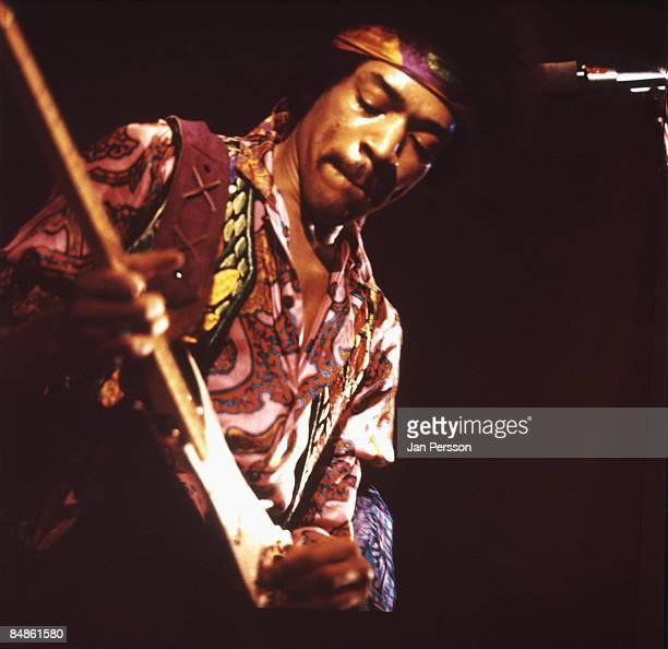 Photo of Jimi HENDRIX performing live onstage at KBHallen