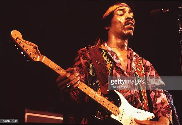 Photo of Jimi HENDRIX performing live onstage at the KBHallen