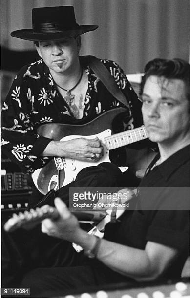 USA Photo of Jimmie VAUGHAN and Stevie Ray VAUGHAN LR Stevie Ray Vaughan Jimmie Vaughan