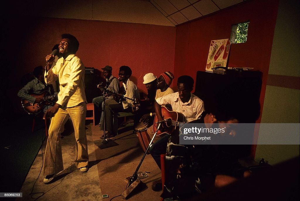 Photo of Jimmy CLIFF; performing at his home in Kingston for Harcourt Film 'Roots Rock Reggae'