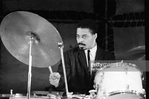 Photo of Jimmy Cobb Drummer Jimmy Cobb performing on stage circa 1960