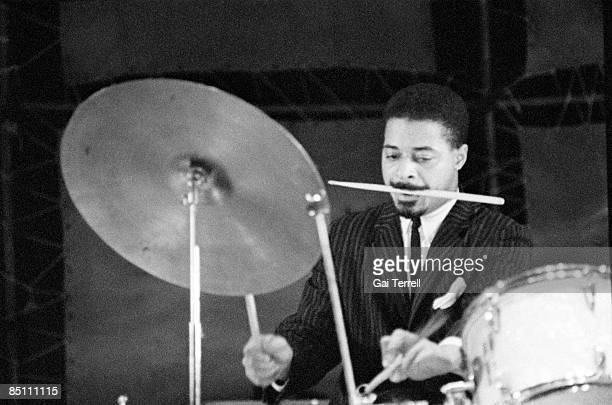 Photo of Jimmy COBB Drummer Jimmy Cobb performing on stage