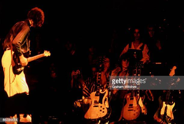 Photo of Jimmy PAGE and LED ZEPPELIN, Jimmy Page performing live onstage at Knebworth for their last UK show