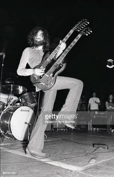 HONOLULU Photo of Jimmy PAGE and LED ZEPPELIN Jimmy Page performing live onsatge at Honolulu Civic Centre playing Gibson EDS1275 twinneck/doubleneck...
