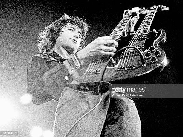 Photo of Jimmy PAGE guitarist with Led Zeppelin
