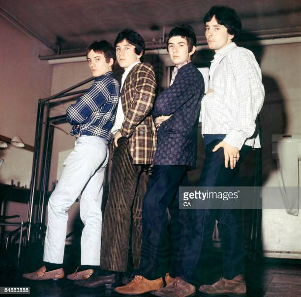 Photo of Jimmy WINSTON and Steve MARRIOTT and SMALL FACES and Ronnie LANE and Kenney JONES; L to R: Steve Marriott, Kenney Jones, Ronnie Lane, Jimmy...