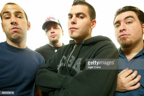 Photo of Joe HILL and ALIEN ANT FARM and Mike COSGROVE and Dryden MITCHELL LR Mike Cosgrove Joe Hill Dryden Mitchell Tye Zamora
