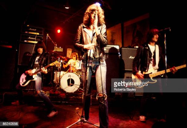 S Photo of Joey RAMONE and RAMONES and Johnny RAMONE and Dee Dee RAMONE LR Johnny Ramone Tommy Ramone Joey Ramone Dee Dee Ramone