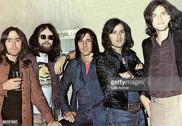 Photo of John DALTON and Ray DAVIES and Dave DAVIES and Mick AVORY and KINKS and John GOSLING; L-R. John Dalton, John Gosling, Mick Avory, Dave...