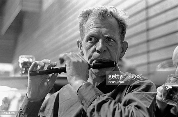 FESTIVAL Photo of John DOONAN John Doonan playing his piccolo at the Keele Folk Festival