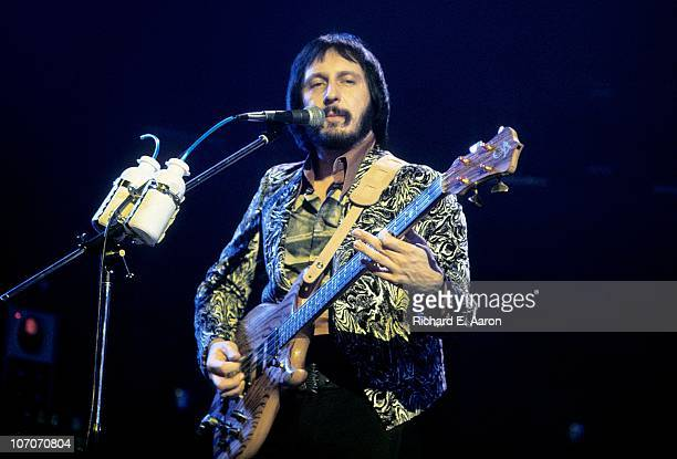 Photo of John Entwistle from The Who performing live onstage