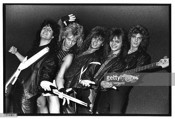 Photo of John LEVEN and Mic MICHAELI and Joey TEMPEST and Kee MARCELLO and EUROPE and Ian HAUGLAND LR Kee Marcello Ian Haugland Joey Tempest Mic...