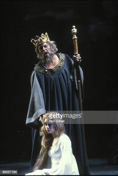HOUSE Photo of John MACURDY and Maria EWING and PELLEAS ET MELISANDE Maria Ewing as Melisande John Macurdy as Arkel