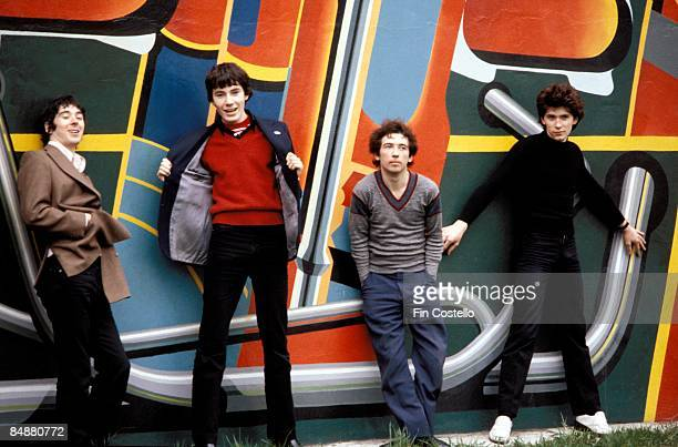 Photo of John MAHER and BUZZCOCKS and Steve GARVEY and Pete SHELLEY LR Steve Diggle John Maher Pete Shelley Steve Garvey