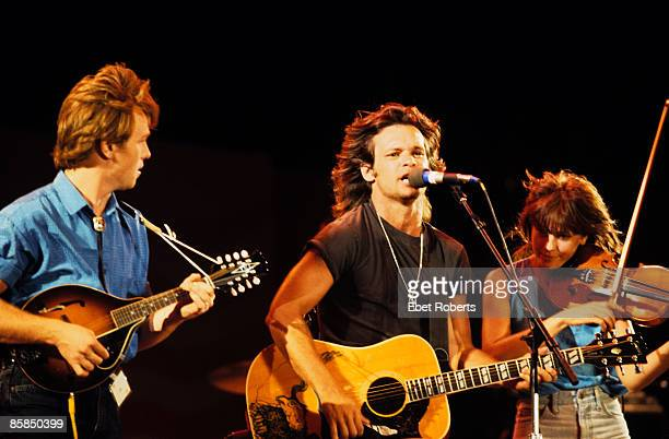 AID Photo of John MELLENCAMP and Larry CRANE and Lisa GERMANO LR Larry Crane John Mellencamp Lisa Germano performing live onstage in Austin Texas