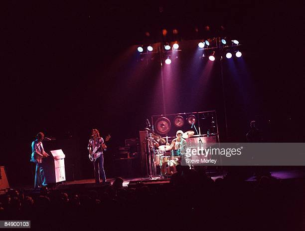 Photo of John WETTON and KING CRIMSON and Bill BRUFORD and Robert FRIPP and David CROSS LR David Cross John Wetton Bill Bruford and Robert Fripp...