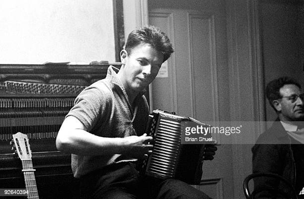 Photo of Johnny HANDLE; Johnny Handle performing in Stockton-on-Tees, playing the accordion