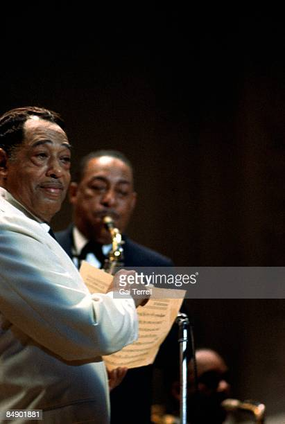 FESTIVAL Photo of Johnny HODGES and Duke ELLINGTON with Johnny Hodges