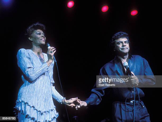 Photo of Johnny MATHIS and Dionne WARWICK Dionne Warwick Johnny Mathis performing at Radio City Music Hall