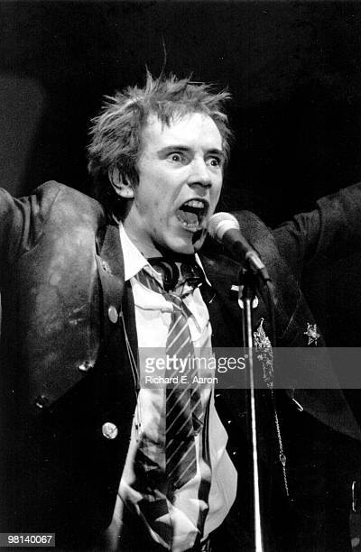 Photo of Johnny ROTTEN and SEX PISTOLS Johnny Rotten performing live onstage at The Great South East Music Hall Atlanta on final tour on January 05...