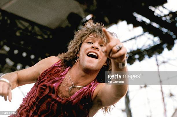 PARK Photo of Jon BON JOVI and BON JOVI Jon Bon Jovi performing live onstage at Monsters Of Rock