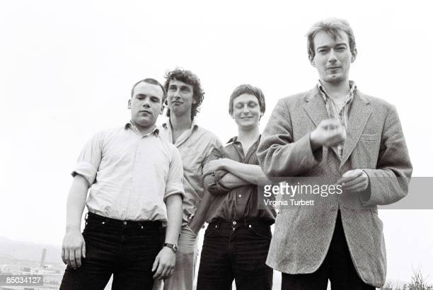 Photo of Jon KING and GANG OF FOUR and Andy GILL and Dave ALLEN LR Hugo Burnham Jon King Dave Allen Andy Gill
