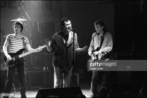 LYCEUM Photo of Jon KING and GANG OF FOUR and Dave ALLEN and Andy GILL LR Dave Allen Jon King Andy Gill