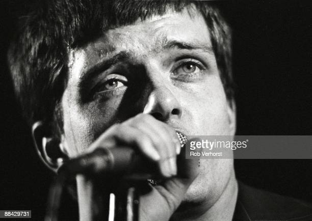 ROTTERDAM Photo of Joy Division Ian Curtis performing live onstage at the Lantaren